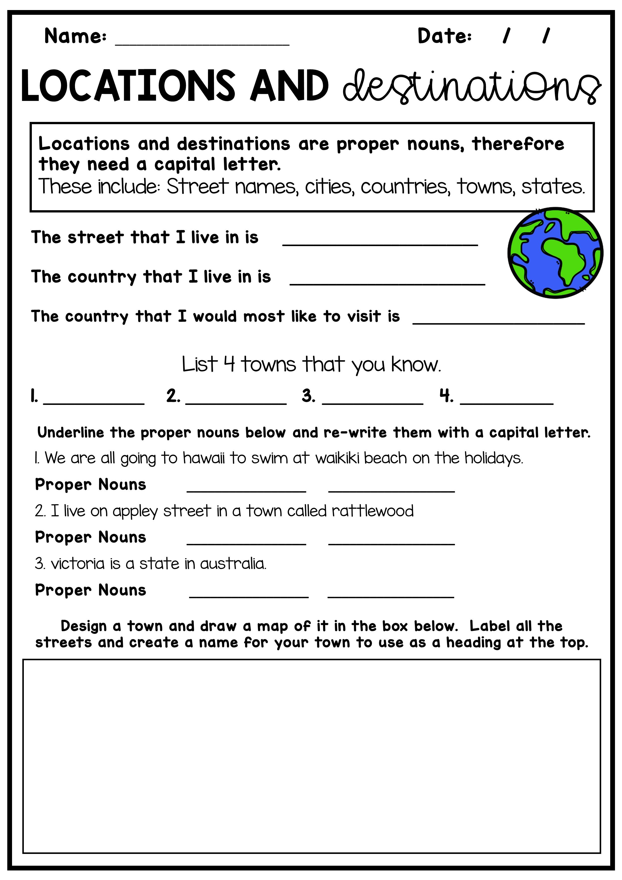 Nouns Worksheet Pack