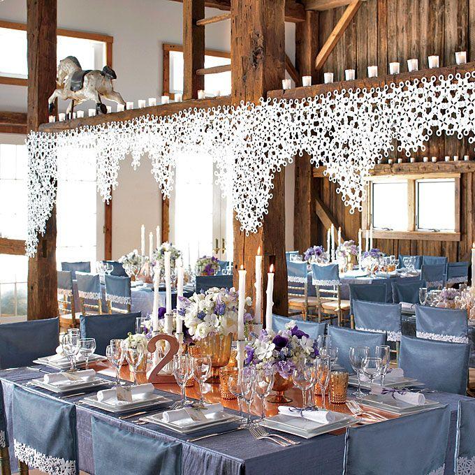 Icy Blue And White Winter Wedding Decor Love Winter Wedding
