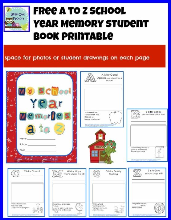 image about Free Printable Memory Book Templates named Cost-free K-2 University Yr Memory Reserve PDF cost-free classes College or university