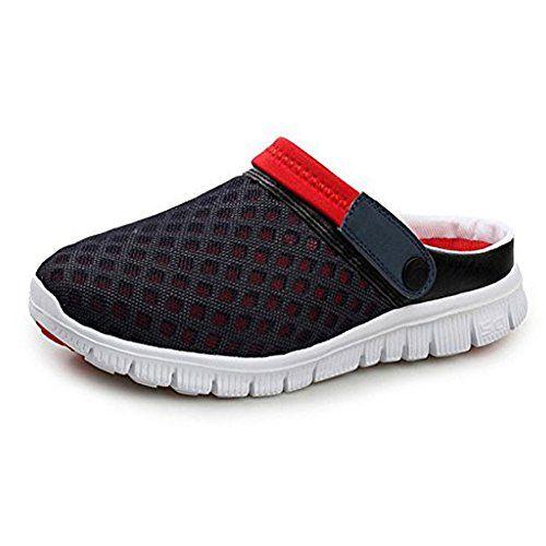 Mujer Hombre Loafers Deportivos Planas Ligero Verano Zapatillas Para Caminar Negro Blanco Azul Rojo 37 9Qz5m