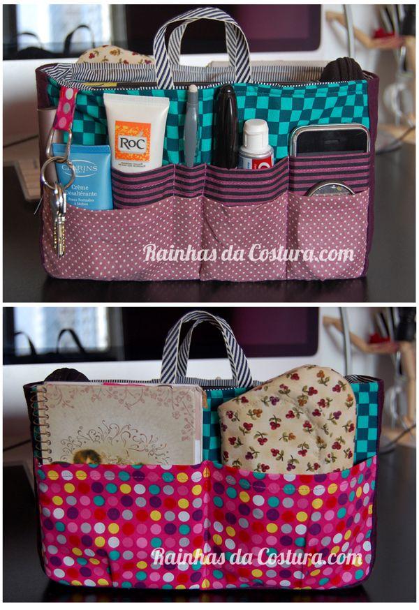 costura} oficina de organizador de bolsa | Artesanato | Pinterest ...