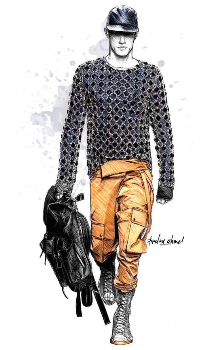 Illustration Fashion sketches for men video