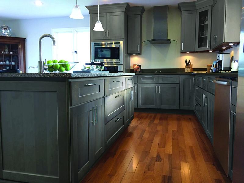 Dalton Gray cabinets by RiverRun Cabinetry. Beautiful gray ...