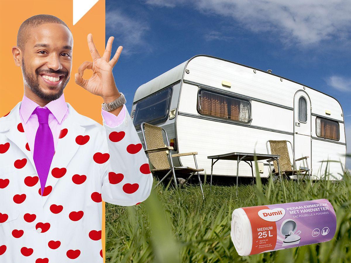 Wij gaan op vakantie en nemen mee… Dumil Pedaalemmerzakjes voor in de caravan!