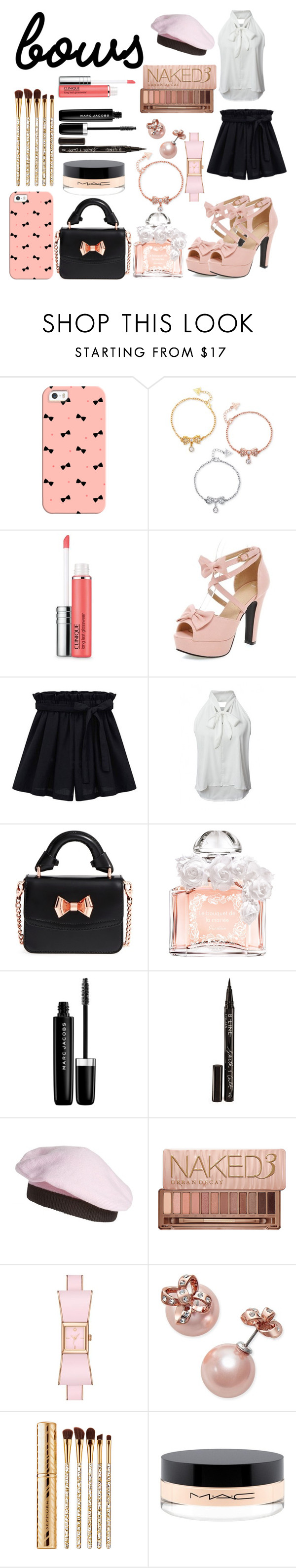 """""""Bows Style"""" by alita210100 on Polyvore featuring moda, Casetify, GUESS, Clinique, WithChic, Ted Baker, Guerlain, Marc Jacobs, Smith & Cult y Kate Spade"""