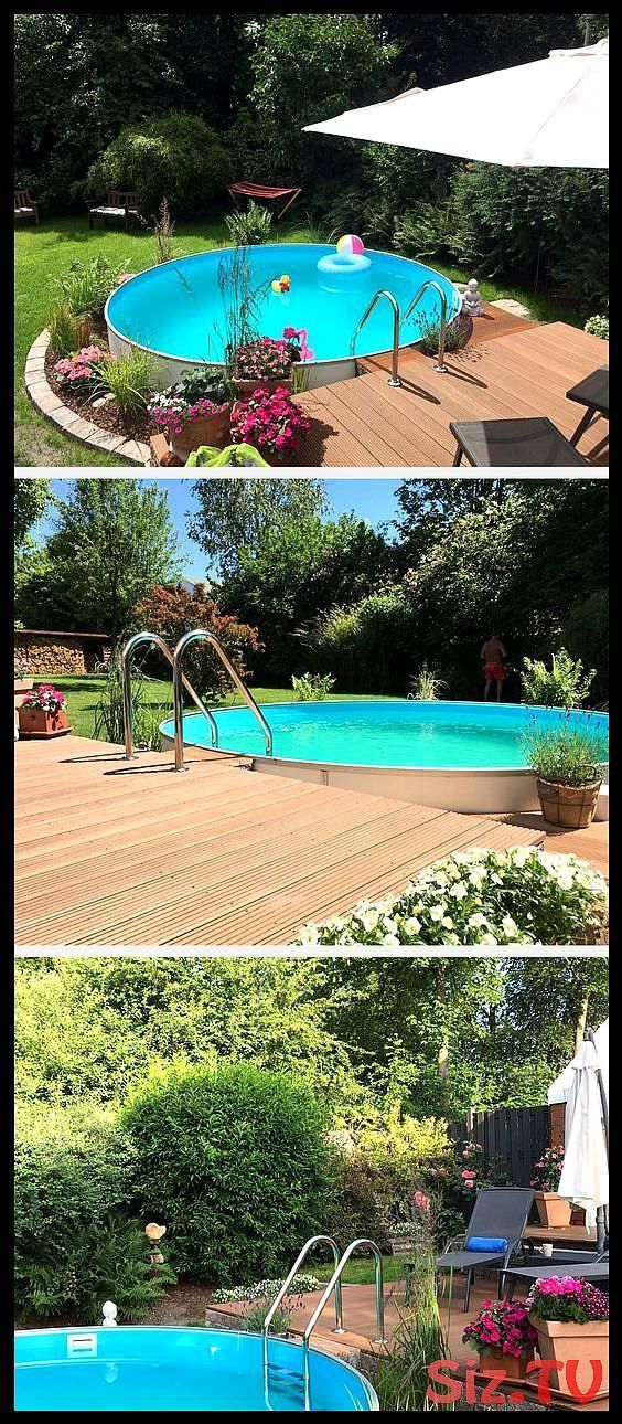 This dreamlike garden pool lets the stress of everyday life go by itself. I, #dreamlike #eve…