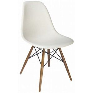 1950 S Modern Dsw White Shell Side Chair 173 Eames Eiffel