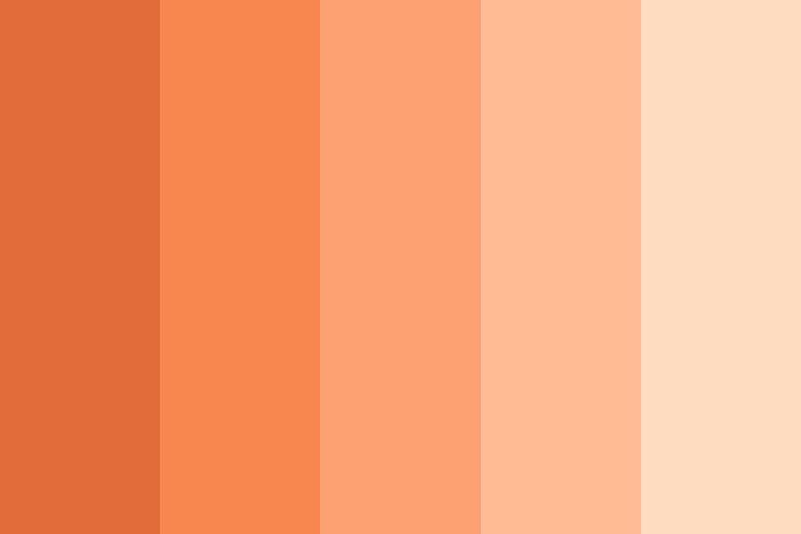 Orange County Juice Color Palette - Color Name Finder
