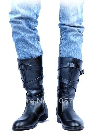 2012-british-style-men-s-High-boots-black-brown-PU-leather-boots ...