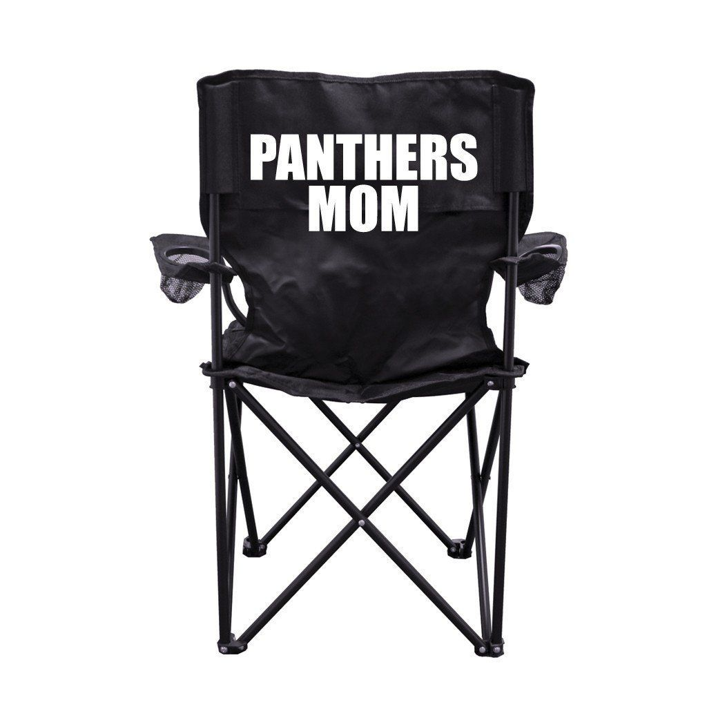 Sensational Panthers Mom Black Folding Camping Chair With Carry Bag Andrewgaddart Wooden Chair Designs For Living Room Andrewgaddartcom