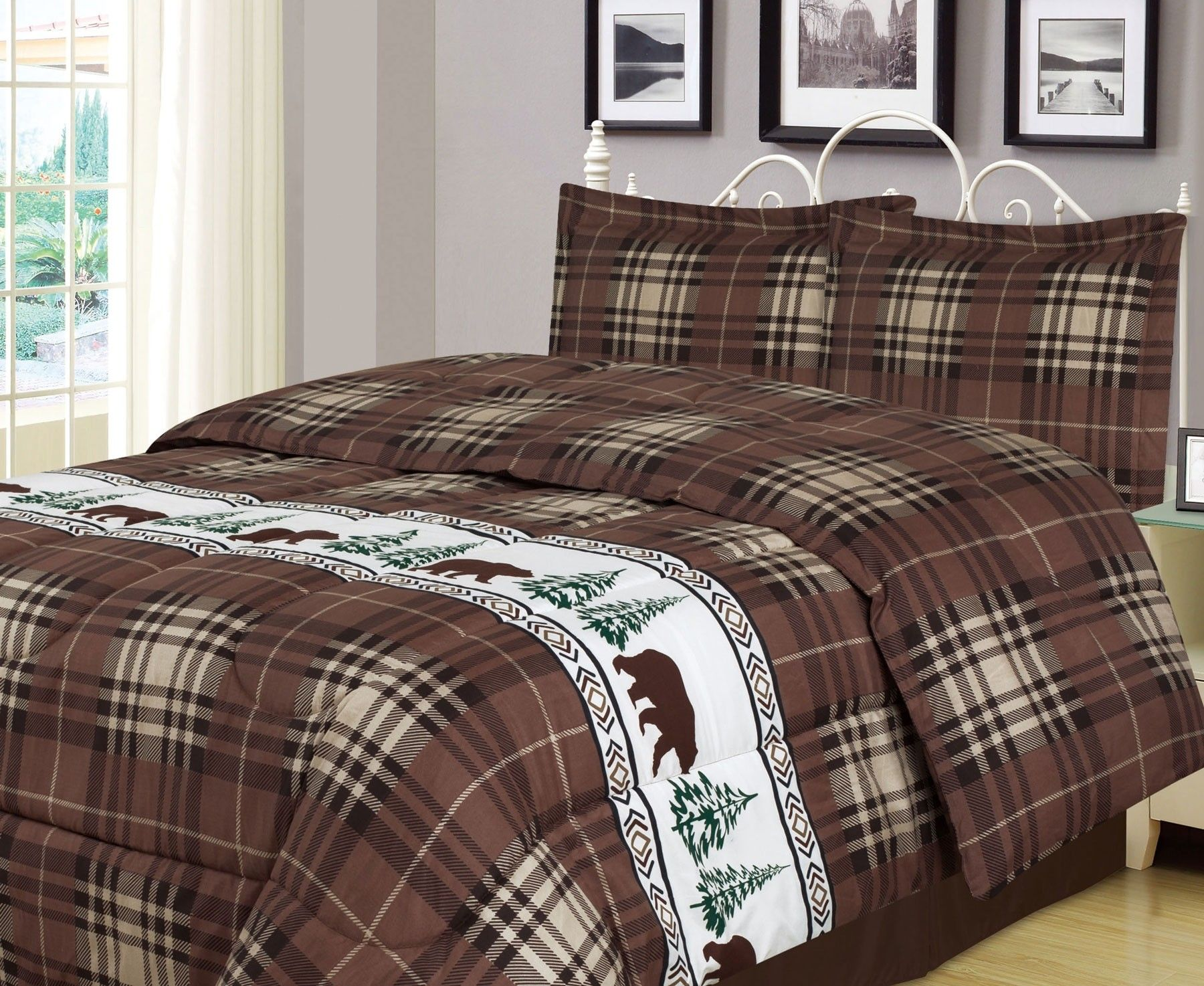 com beddingsuperstore cabin carstens bedding plaid sagamore lake category comforters by lodge cabins