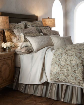 """""""Silver Birch"""" Bed Linens by French Laundry Home at Horchow."""