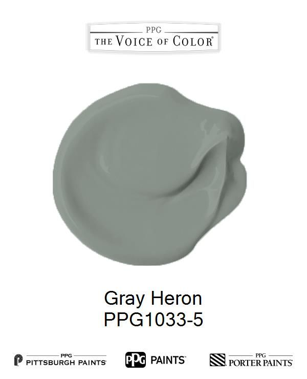 Gray Heron Ppg1033 5 Modern Farmhouse Paint Colors Color Ppg