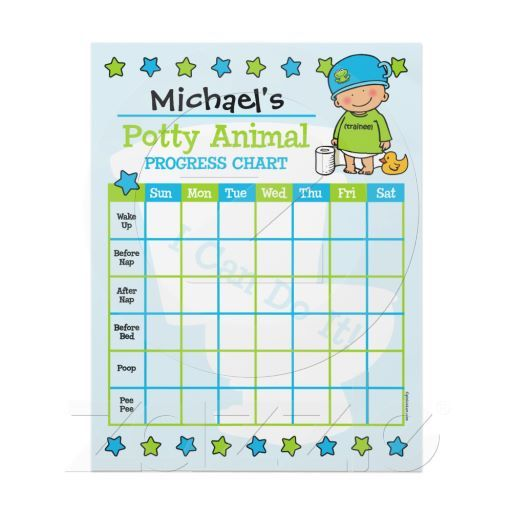 Potty Animal Boy Training Chart Letterhead Template Babies  Baby - workout char template