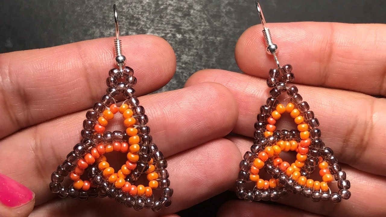 Beaded Celtic Knot Earring With Herringbone Stitch Youtube