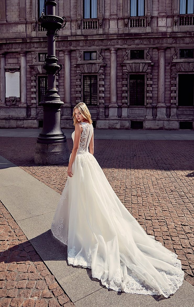 Eddy K Milano Style MD199 - Cap Sleeves, Fit-n-Flare wedding dress | itakeyou.co.uk #weddingdress #wedding #weddingdresses #weddinggown #bridalgown #bridaldress #weddinggowns #engaged