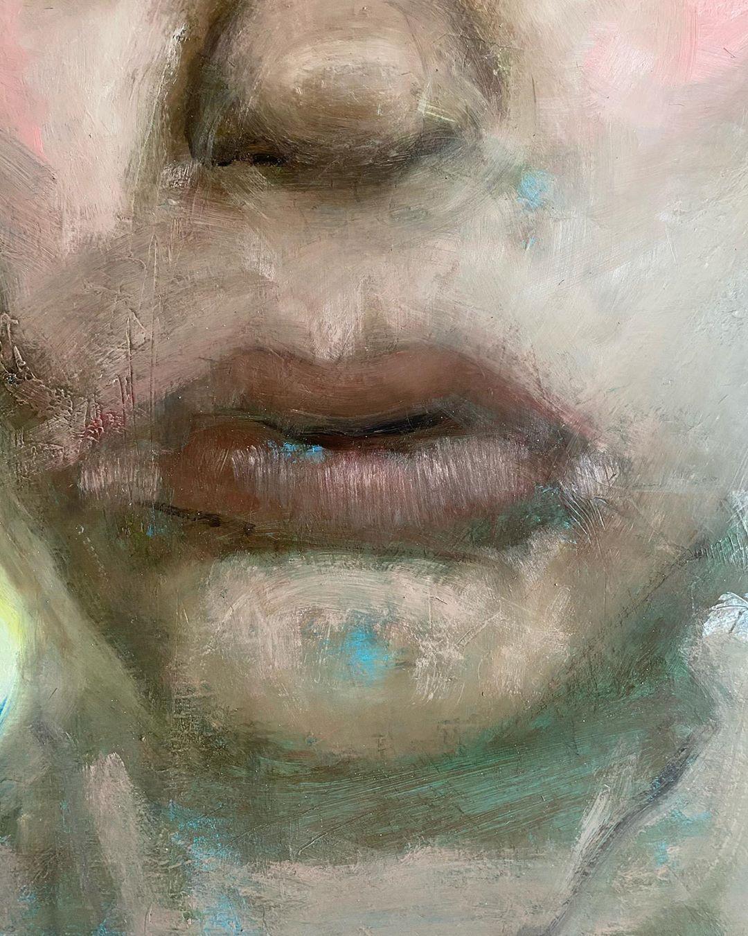 "Agnieszka Ceccarelli on Instagram: ""#portraitpainting #agnieszkaceccarelli #fineart #oiloncanvas #oilpainting #contemporarypainting #contemporary #contemporaryart #abstractart…"""