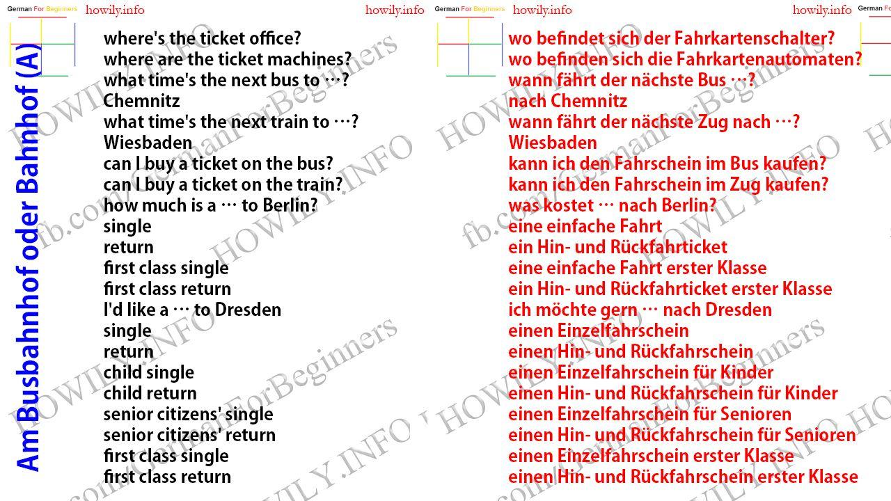 Am Busbahnhof Oder Bahnhof Sprachen Lernen Deutsch Lernen