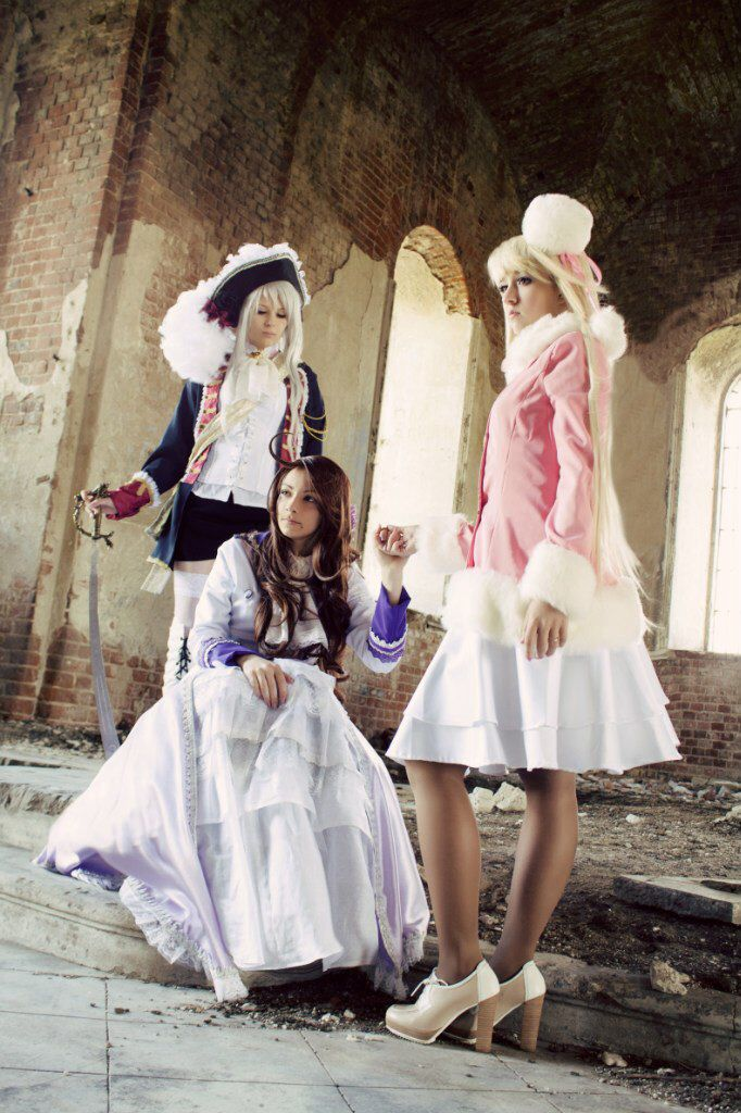 Wow, this cosplay is amazing ! Fem!Prussia , Fem!Austria , and Fem!Russia.