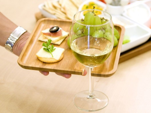 Appetizer Tray with Stem Holder