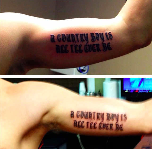 Aaron Lewis Fan Zack Fluty And His Buddy Just Got Inked.