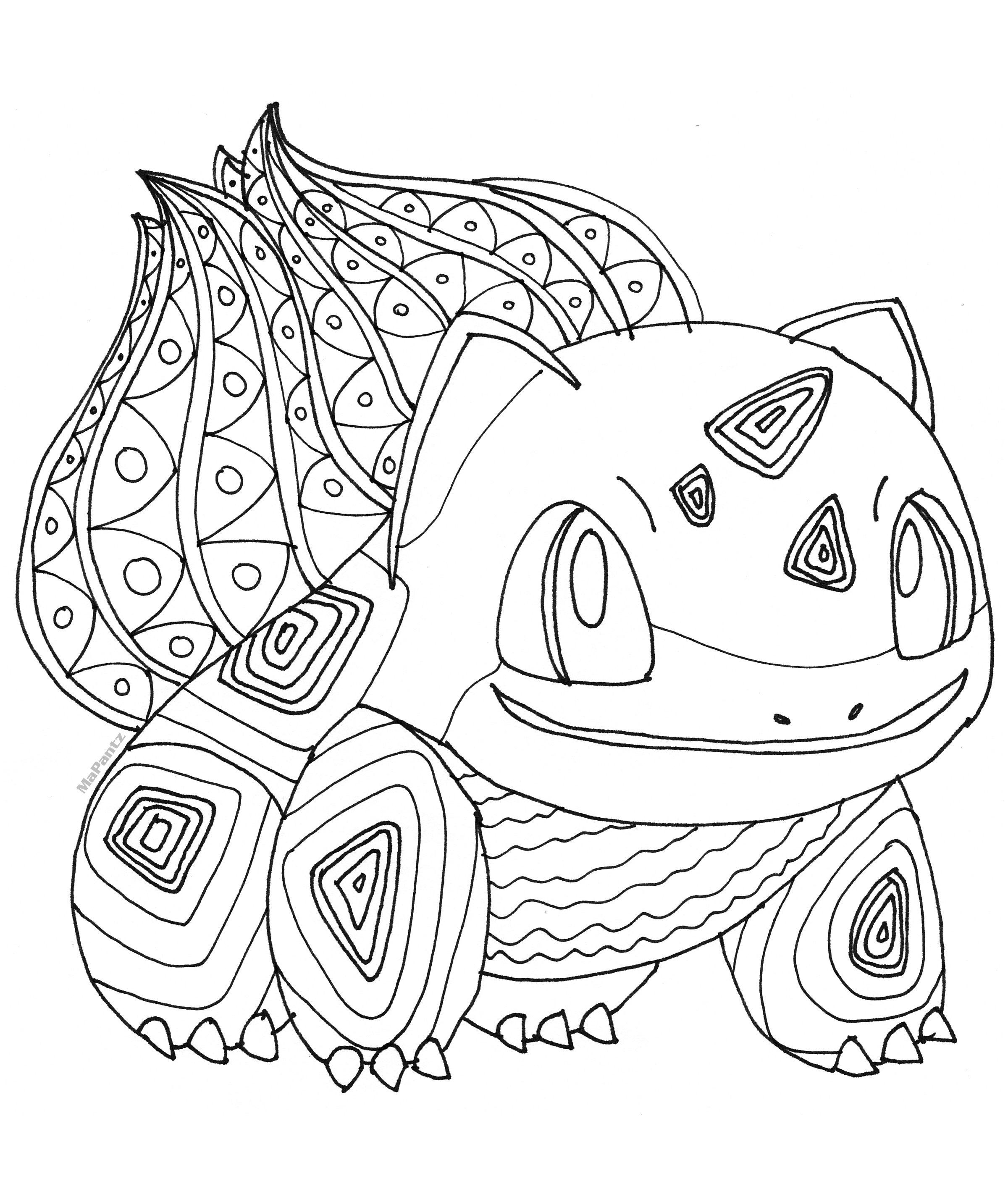 Pokemon Bulbasaur Free Coloring Page by MaPantz  Pokemon coloring