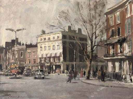 British Paintings Edward Seago The Pier Hotel Chelsea