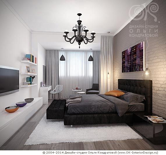 Интерьер жилого дома Галерея 3dddru: шторы лофт спальня - Поиск в Google