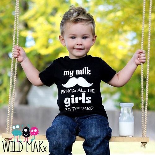 My milk mustache brings all the girls to the yard - Black ...