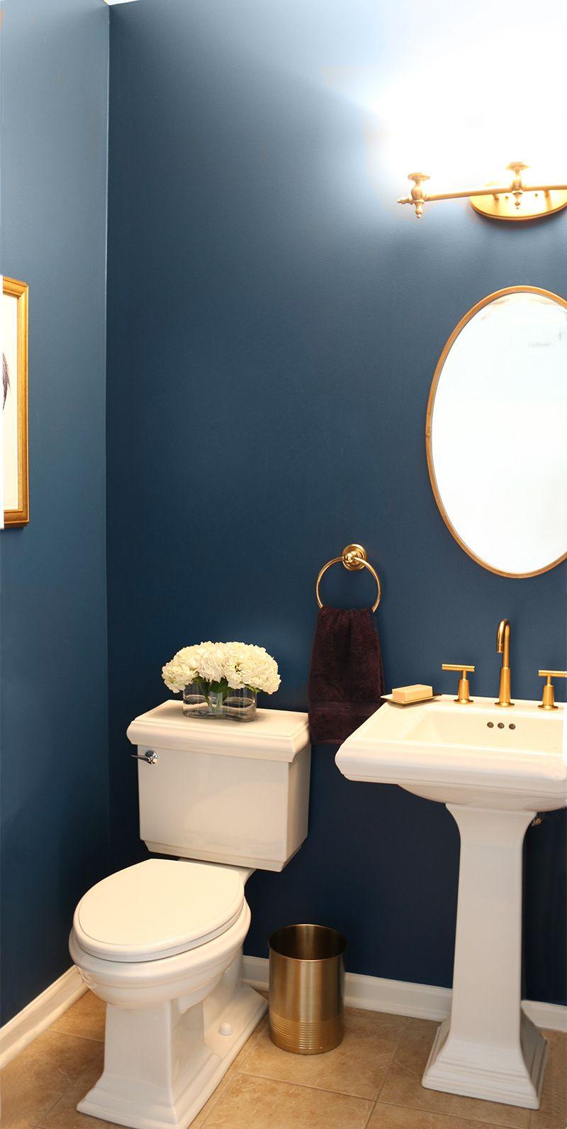 Elegant Dark Powder Room Powder Room Remodel Powder Room Decor