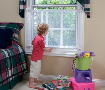 Mesh Window Guard S303 Looks Like A Great Safety Feature For 2nd Floor Windows Window Safety Baby Proofing Childproofing
