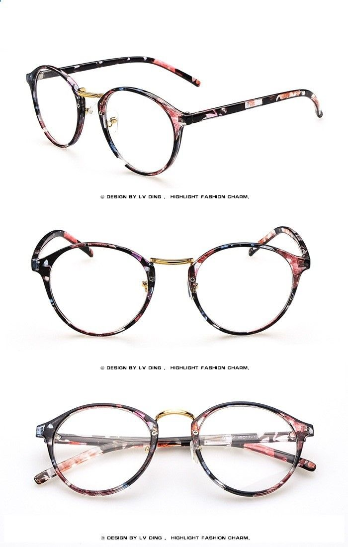 Pink floral prescription glasses frame black floral eyewear for ...