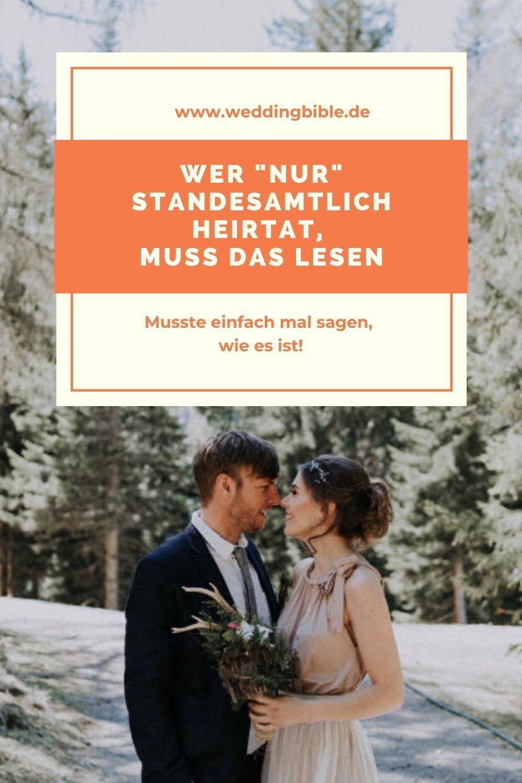Nur Standesamtlich Heiraten