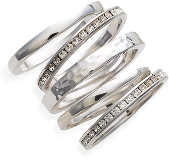#Ariella Collection       #Jewelry                  #Ariella #Collection #Slim #Stackable #Rings #(Set #Silver/Clear #Crys        Ariella Collection Slim Stackable Rings (Set of 5) Silver/Clear Crys 8                                  http://www.snaproduct.com/product.aspx?PID=5373446