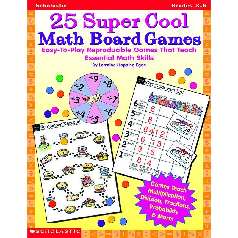 Easy-to-Play Reproducible Games That Teach Essential Math Skills By Lorraine Hopping Egan This big collection of super-cool reproducible board games that build key skills: multiplication, division, fr