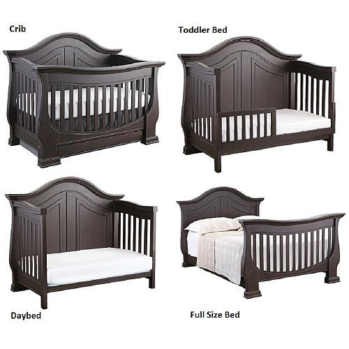 Eco Chic Baby Dorchester 4 In 1 Convertible Crib Slate Baby Cribs Convertible Cribs Baby Bed Baby crib that converts to toddler bed