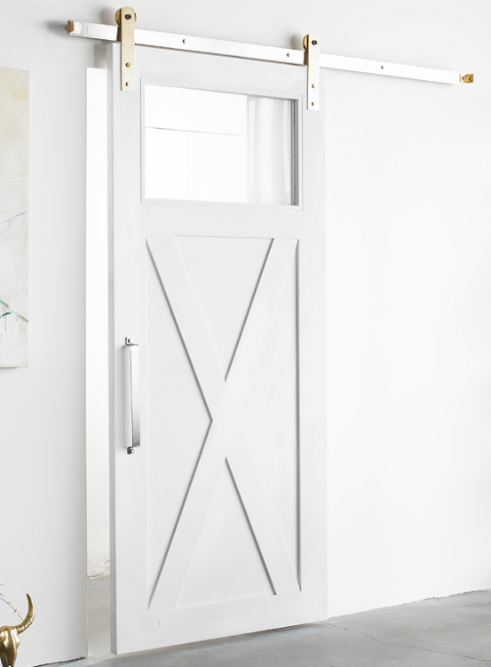 White Shanty Modern X 1 Panel Sliding Barn Door White Barn Door Glass Barn Doors Interior Barn Doors