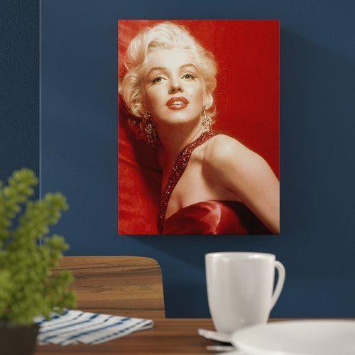 Hokku Designs Hollywood Legends Glamour Marilyn Monroe Memorabilia on Wrapped Canvas #hollywoodlegends