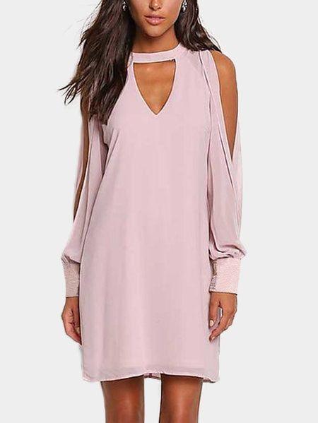 ... Long Sleeves Chiffon Dress  brand new ed602 dacfc Rose Gold Plunge Matte  Sequin Mini Dress  huge sale be5ec 0368f Juniors Long Prom Formal Dresses  ... 2bbe812f94a5