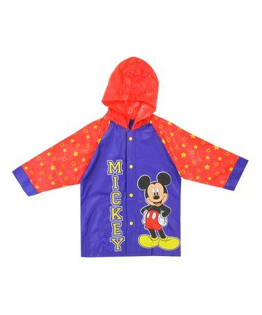 7906a205d Look what I found on #zulily! Blue & Red Mickey Mouse Raincoat ...