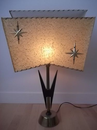 Vintage Retro Starburst Atomic Mid Century 50s 60s Eames Table Lamp Light Ebay Mid Century Modern Lighting Lamp Vintage Lamps
