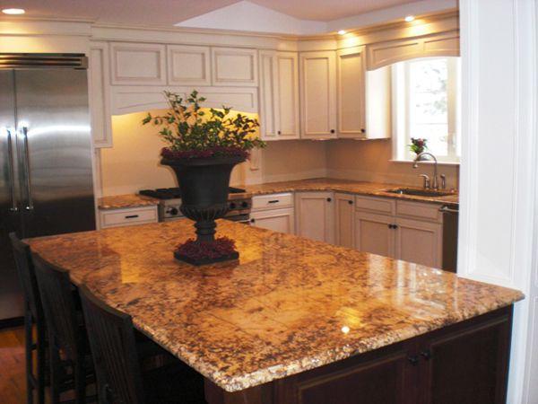 Tile Flooring Behing Kitchen Island
