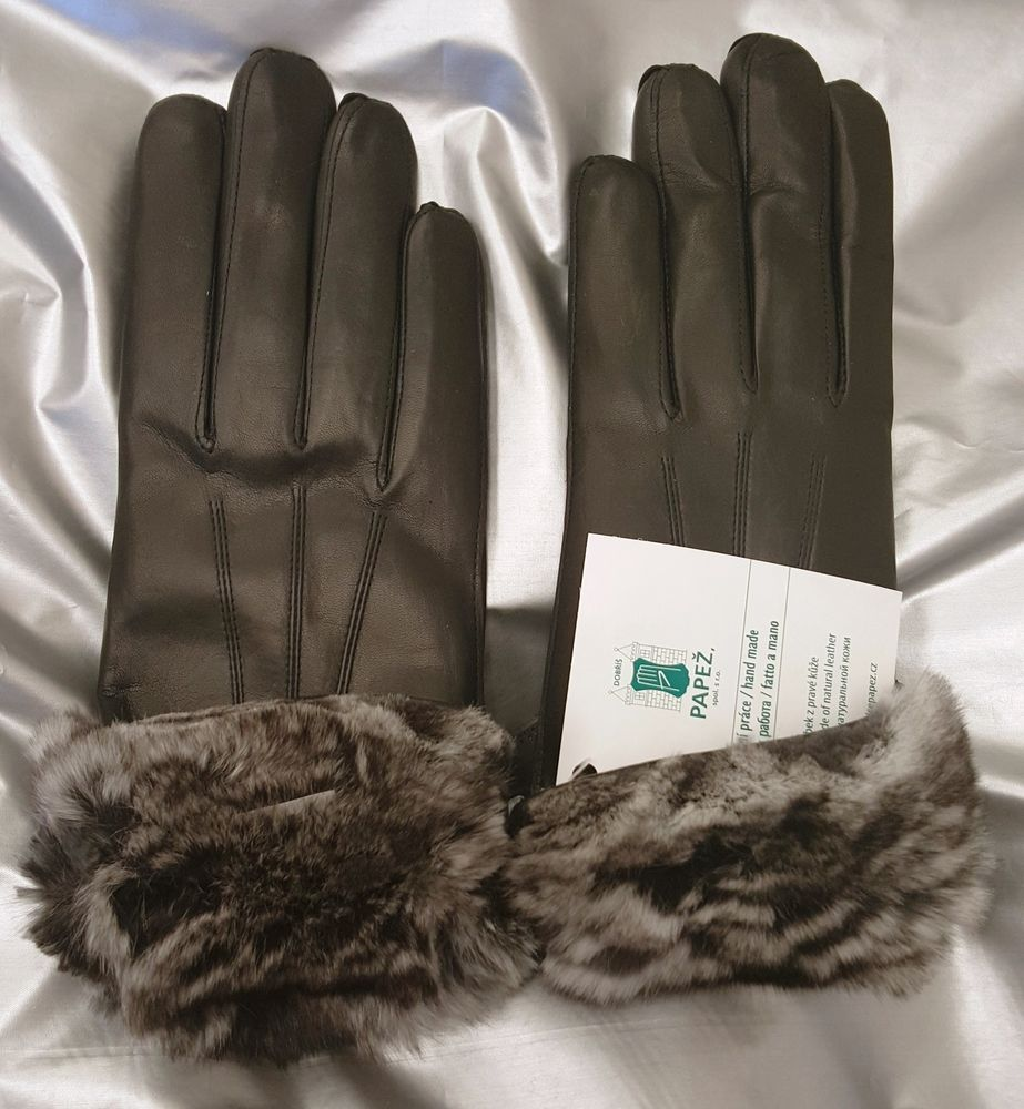 Ladies leather gloves xl -