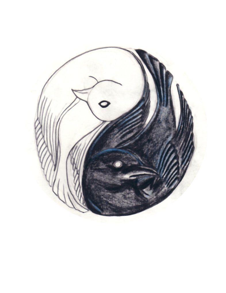 yin yang bird tattoo by helpmepleaseplease on deviantart bucketlist pinterest yin yang. Black Bedroom Furniture Sets. Home Design Ideas