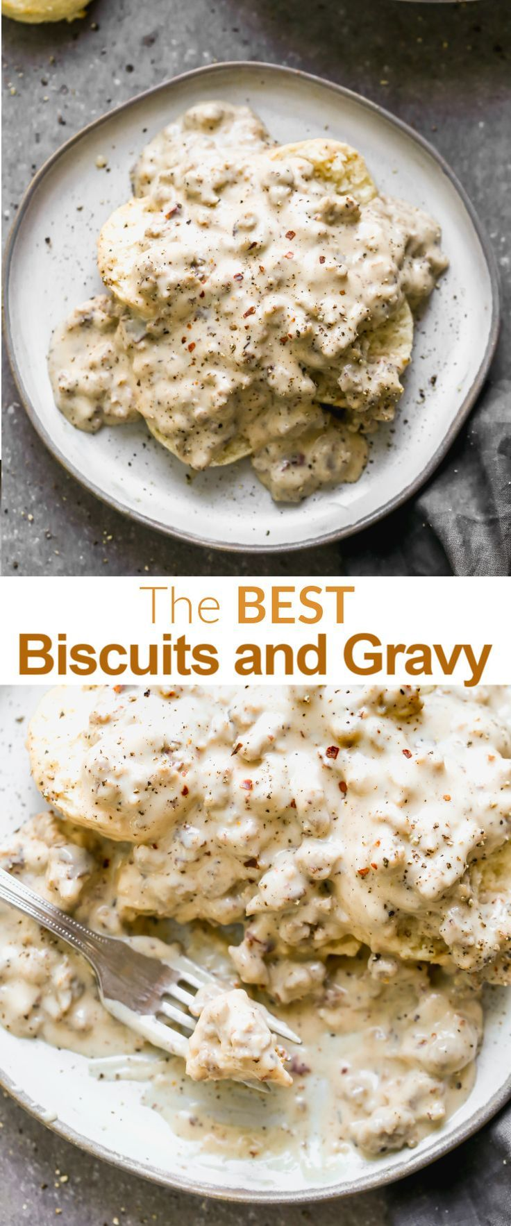 Best Ever Biscuits And Gravy Recipe In 2020 Best Biscuits And Gravy Sausage Gravy Easy Biscuits And Gravy