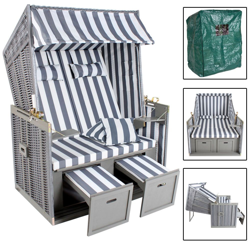 schutzh lle strandkorb grau rugbyclubeemland. Black Bedroom Furniture Sets. Home Design Ideas