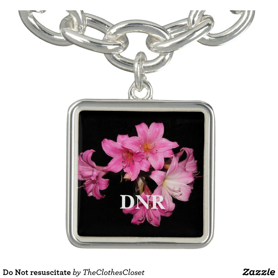 Do Not Resuscitate Bracelet Regalos Encantos Lindos Diseños De Flores Pulseras Amuleto