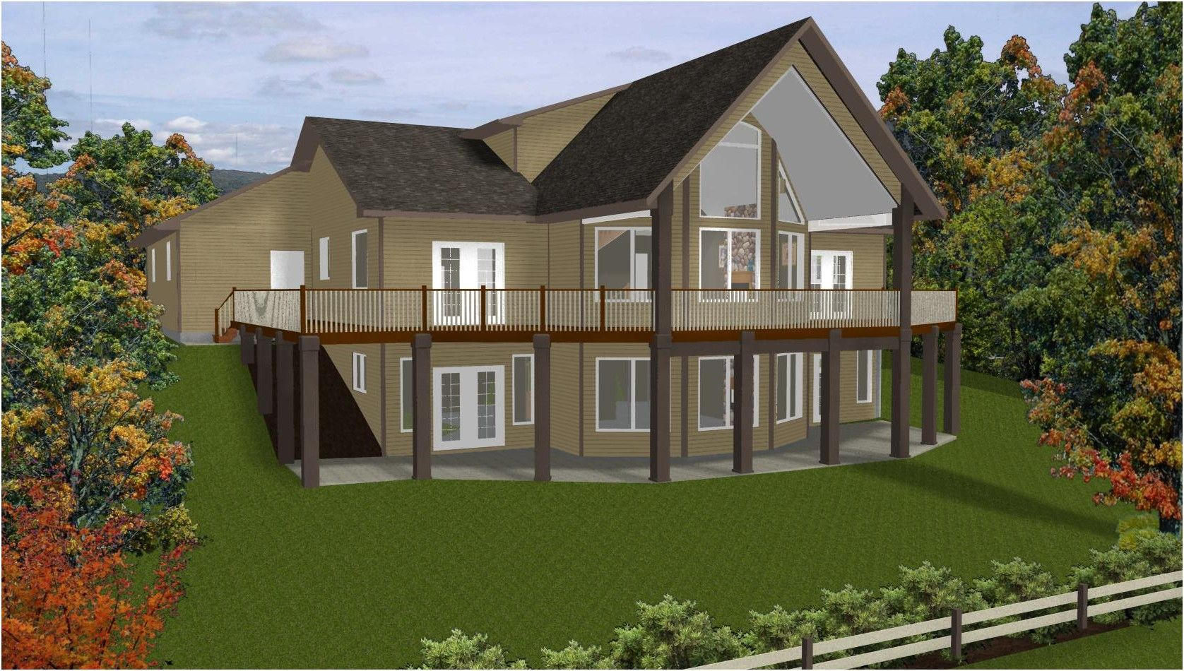 New 1 Story House Plans with Walkout Basement Hidup