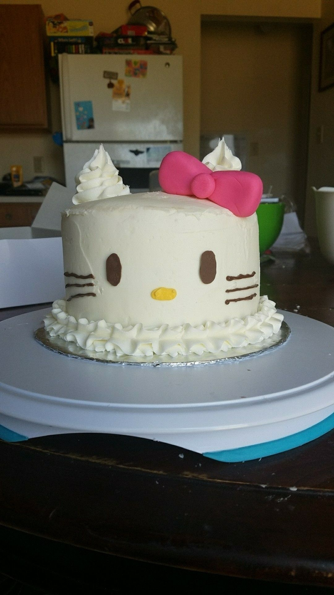 Hello Kitty Cake Decorated with buttercream chocolate and small