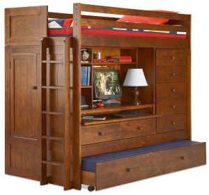 Superb ALL N ONE LOFT BUNK BED PLAN; Build Your Own TWIN, FULL, QUEEN, KING Loft  Bed With TRUNDLE, Desk, CHEST, And Closet; Pattern Not Available In Any  Store!!